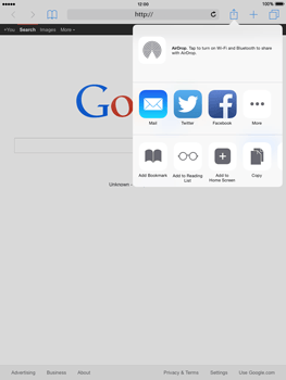 Apple iPad mini iOS 8 - Internet - Internet browsing - Step 5