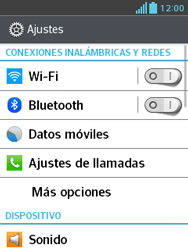 LG Optimus L3 II - WiFi - Conectarse a una red WiFi - Paso 4