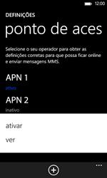 Nokia Lumia 625 - Internet no telemóvel - Como configurar ligação à internet -  17
