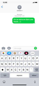 Apple iPhone XS - iOS 12 - Contact, Appels, SMS/MMS - Envoyer un SMS - Étape 9