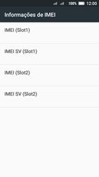 Lenovo Vibe C2 - Primeiros passos - Como encontrar o número de IMEI do seu aparelho - Etapa 7