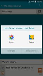 Samsung Galaxy A3 - Mensajería - Escribir y enviar un mensaje multimedia - Paso 16