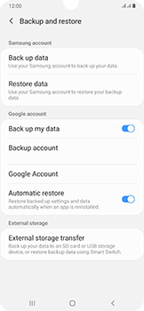 Samsung Galaxy A50 - Data - Create a backup with your account - Step 7