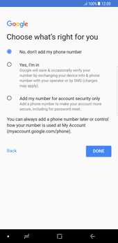 Samsung Galaxy S8 Plus - Android Oreo - Applications - Create an account - Step 14