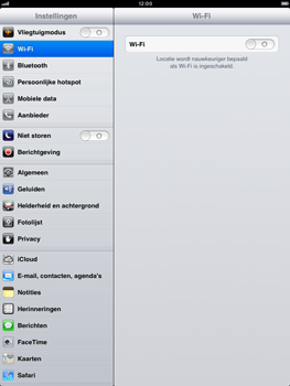 Apple iPad mini - WiFi - Handmatig instellen - Stap 3