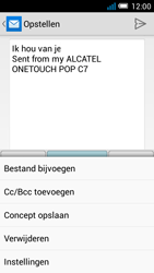 Alcatel OT-7041X Pop C7 - E-mail - Hoe te versturen - Stap 10