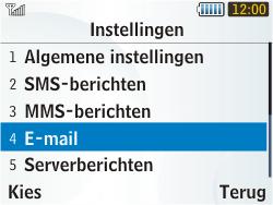 Samsung S3350 Chat 335 - E-mail - handmatig instellen - Stap 5