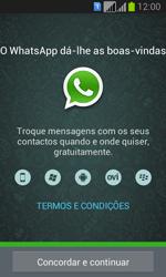 Samsung Galaxy Fresh Duos - Aplicações - Como configurar o WhatsApp -  5