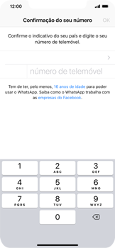 Apple iPhone XS Max - Aplicações - Como configurar o WhatsApp -  8