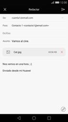Huawei P8 - E-mail - Escribir y enviar un correo electrónico - Paso 16