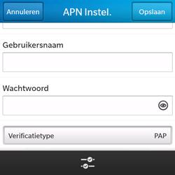 BlackBerry Q5 - Internet - handmatig instellen - Stap 11