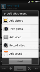 Sony ST25i Xperia U - Mms - Sending a picture message - Step 12