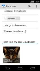 Acer Liquid E600 - E-mail - Sending emails - Step 15