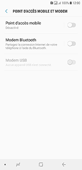 Samsung Galaxy A6 - Internet et connexion - Utiliser le mode modem par USB - Étape 6