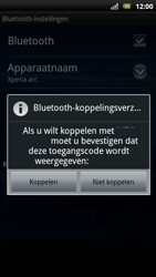 Sony Ericsson Xperia Arc S - Bluetooth - koppelen met ander apparaat - Stap 11