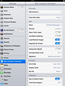 Apple iPad mini - E-mail - Manual configuration - Step 4