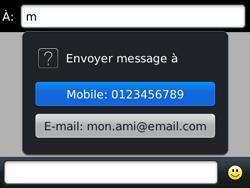 BlackBerry 9790 Bold - Mms - Envoi d