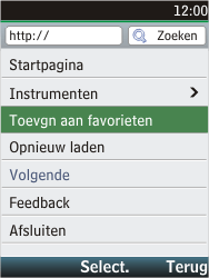 Nokia C2-05 - Internet - hoe te internetten - Stap 7