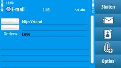 Nokia N97 - E-mail - hoe te versturen - Stap 9