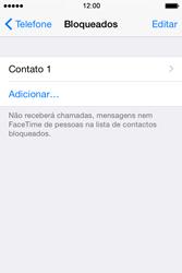 Apple iPhone 4S iOS 8 - Chamadas - Bloquear chamadas de um número -  7