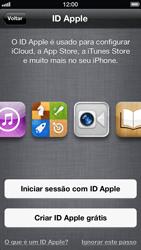 Apple iPhone iOS 6 - Primeiros passos - Como ativar seu aparelho - Etapa 13