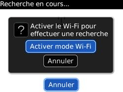 BlackBerry 8520 - Internet et connexion - Accéder au réseau Wi-Fi - Étape 7