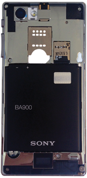 Sony Xperia J - Primeros pasos - Quitar y colocar la batería - Paso 3