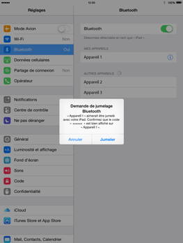Apple iPad Air iOS 8 - Bluetooth - connexion Bluetooth - Étape 8