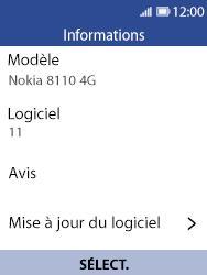 Nokia 8110 Banana - Appareil - Mise à jour logicielle - Étape 7