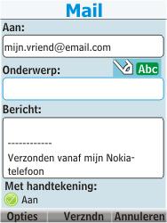 Nokia 206 Dual Sim - E-mail - Hoe te versturen - Stap 11