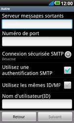 LG P990 Optimus 2X Speed - E-mail - Configurer l