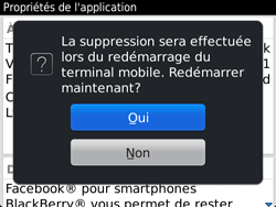 BlackBerry 9720 - Applications - Supprimer une application - Étape 10