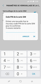 Samsung Galaxy S8 - Sécuriser votre mobile - Personnaliser le code PIN de votre carte SIM - Étape 10