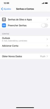 Apple iPhone X - iOS 13 - Email - Como configurar seu celular para receber e enviar e-mails - Etapa 9