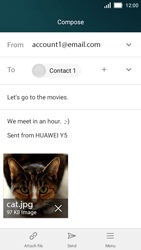 Huawei Y5 - Email - Sending an email message - Step 14