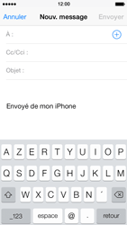 Apple iPhone 5 iOS 7 - E-mail - envoyer un e-mail - Étape 3