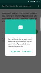 Samsung Galaxy S7 Edge - Aplicações - Como configurar o WhatsApp -  13