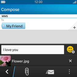 BlackBerry Q5 - Mms - Sending a picture message - Step 11