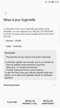Samsung Samsung G928 Galaxy S6 Edge + (Android N) - Appareil - Mises à jour - Étape 7