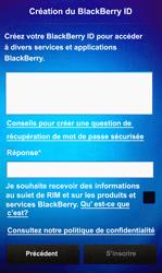BlackBerry Z10 - Premiers pas - Créer un compte - Étape 12