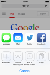 Apple iPhone 4 S iOS 7 - Internet - Internet browsing - Step 5