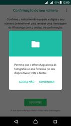 Sony Xperia X Dual SIM (F5122) - Aplicações - Como configurar o WhatsApp -  8