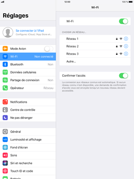 Apple iPad mini 3 - iOS 11 - WiFi et Bluetooth - Configuration manuelle - Étape 5