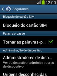 Samsung Galaxy Pocket Neo - Segurança - Como ativar o código PIN do cartão de telemóvel -  5