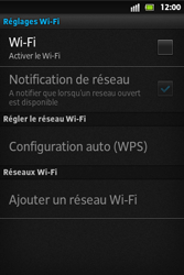 Sony ST27i Xperia Go - Wifi - configuration manuelle - Étape 5