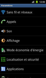 Samsung I8530 Galaxy Beam - Wifi - configuration manuelle - Étape 3