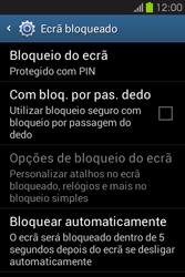Samsung Galaxy Fame - Segurança - Como ativar o código de bloqueio do ecrã -  11