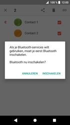 Sony Xperia XZ1 Compact - Contactgegevens overzetten - delen via Bluetooth - Stap 8