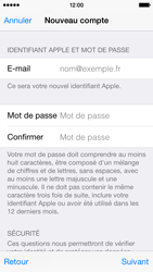 Apple iPhone 5s - iOS 8 - Applications - Créer un compte - Étape 13