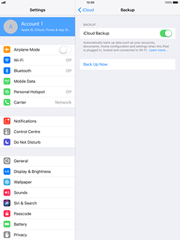 Apple iPad Air - iOS 11 - Device maintenance - Create a backup of your data - Step 12